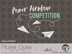 "Plotterdatei ""paper airplane"" #1 - ALPWIND ® - ""Paper Airplane Competition"" Dateiformat: SVG, DXF und PNG - Papierflugzeug - Plott - Plotten für Kinder - Mädchen/Jungen - Erwachsene - Plottdatei - Plotterei - Bügelbild - Glückpunkt."