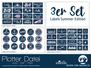"Plotterdatei - ""Labels Summer Edition 1-3"" - 3er-Set - Alpwind"