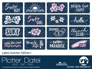 "Plotterdatei - ""Labels Summer Edition 1"" - Alpwind"