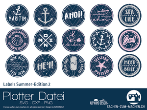 "Plotterdatei - ""Labels Summer Edition 2"" - Alpwind"