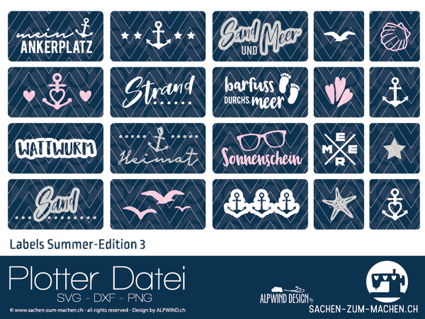 "Plotterdatei - ""Labels Summer Edition 3"" - Alpwind"