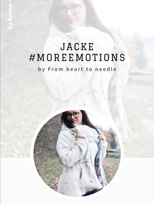 "e-Book - ""Jacke #moreemotions"" - addon für Weste #emotions  - From Heart to Needle"