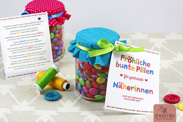 "Freebook - ""Pillen für Näherinnen"" - Shesmile, Do it yourself - Glückpunkt."