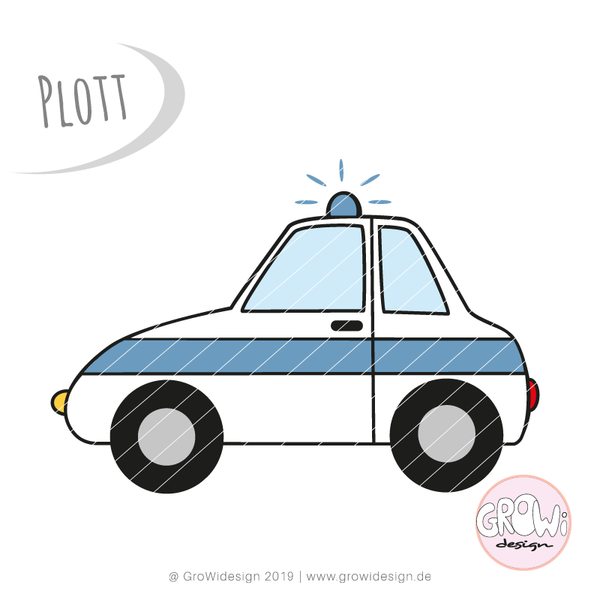 "Plotterdatei - ""Polizeiauto"" - GroWidesign"