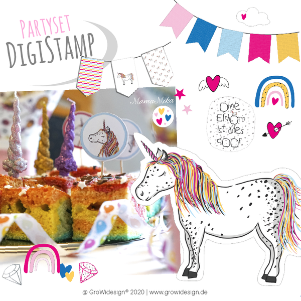 "DigiStamp - ""Pünktchen PartySET"" - GroWidesign"
