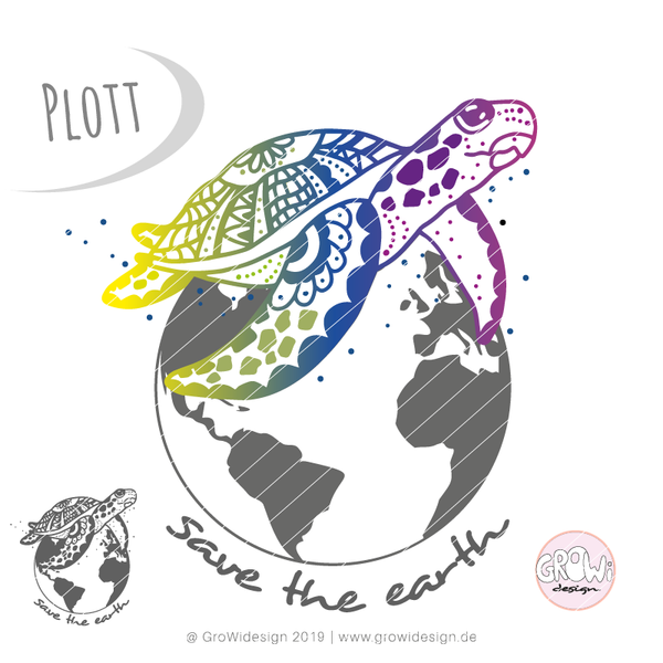 "Plotterdatei - ""Safe the earth"" - GroWidesign"