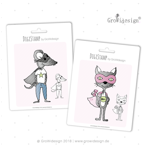 "DigiStamp - ""superCAT & RAT"" - GroWidesign"