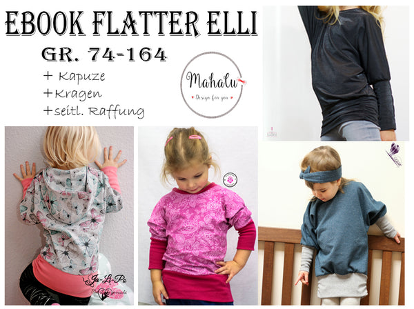 "eBook - ""Flatter Elli Kids"" - Shirt/Kleid - Mahalu Design"