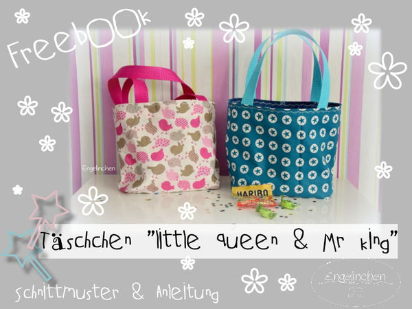"Freebook - ""Täschchen Little Queen & Mr. King"" - Taschen -  Engelinchen Design"