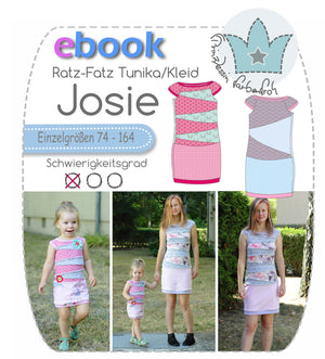 "Freebook - ""Josie"" - Tunika/Kleid - Prinzessin Farbenfroh"