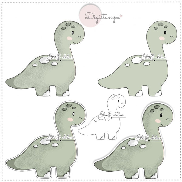 "DigiStamp - ""Dino Langhals"" - Stuff-Deluxe"