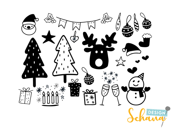 "Plotterdatei - ""Christmas Doodle Bundle 2"" - Schana Design"