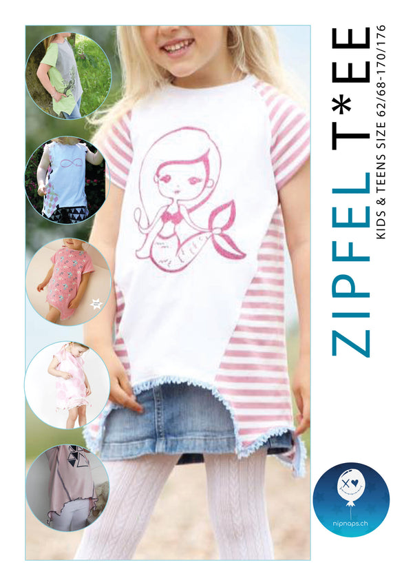 "eBook - ""Addon-Zipfel Kids Tee"" - Shirt -  NipNaps"