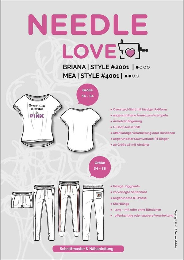 "Kombi-eBook - ""Briana & Mea"" - Shirt & Hose - Needle Love"