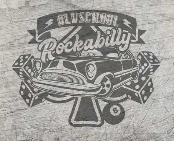 "Plotterdatei - ""Rockabilly"" - B.Style"
