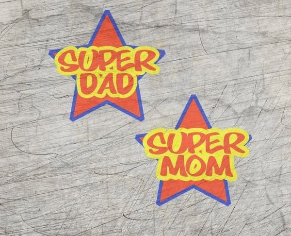 "Plotterdatei - ""Super Mom & Dad"" - B.Style"