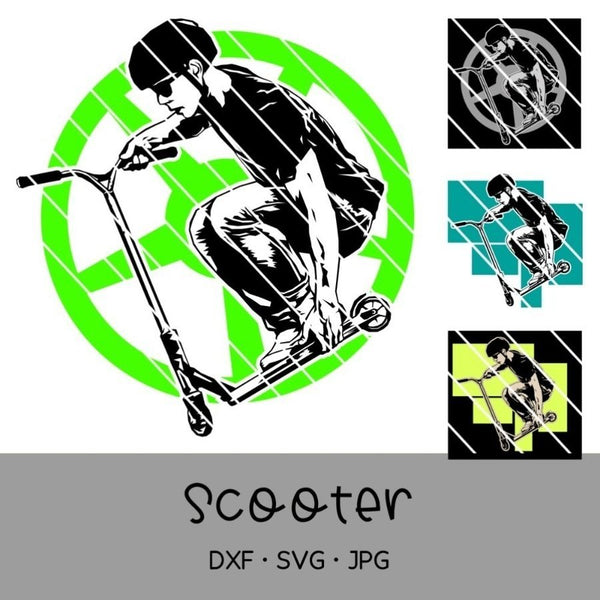 "Plotterdatei - ""Scooter-Set"" - Oma Plott"