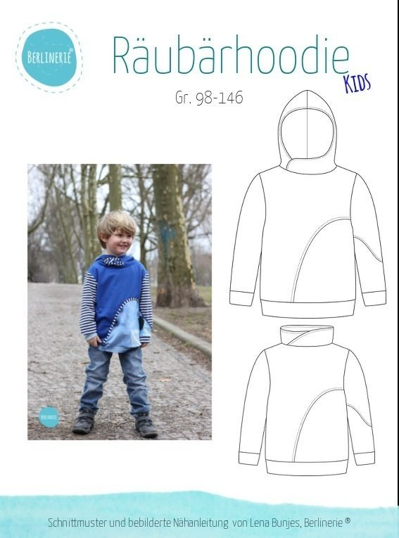 "eBook - ""Räubärhoodie Kids"" - Pullover - Berlinerie - Glückpunkt. Shop"