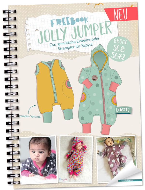 "Freebook - ""Jolly Jumper Gr. 50 & 56/62"" - Einteiler - Lybstes"