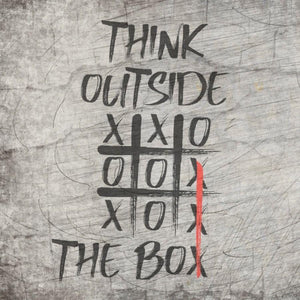 Tic Tac Toe - Think Outside the Box  Enthaltene Formate: SVG, DXF, PNG Kein fertiges Bügelmotiv!
