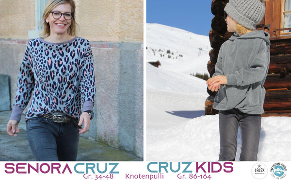 "Kombi-eBook - ""Senora CRUZ + CRUZ Kids"" - Pullover - Follow Me Design"