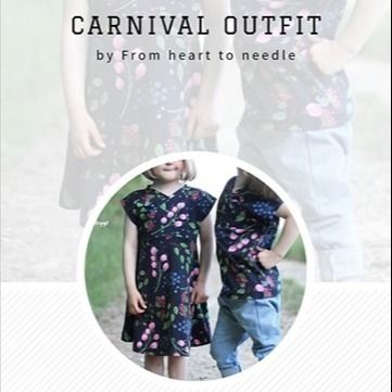 "e-Book - ""Carnival Outfit"" - Kleid/Shirt/Hose/Leggings  - From Heart to Needle"