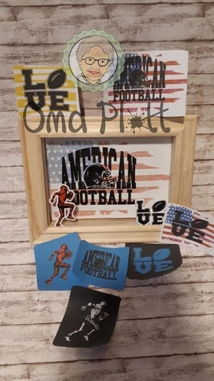 "Plotterdatei - ""Football Set"" - Oma Plott"