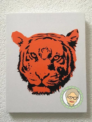 "Plotterdatei - ""Tiger-Pärchen"" - Oma Plott"