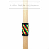 Rasta Swirl Loc Cuff - Knottysleeves Dread Beads and Dreadlock Accessories