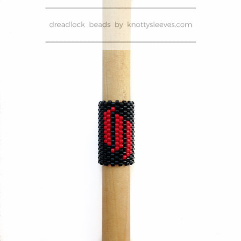 Skrillex Dread Bead - Knottysleeves Dread Beads and Dreadlock Accessories