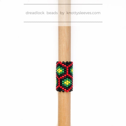 Rasta Honey Loc Cuff - Knottysleeves Dread Beads and Dreadlock Accessories