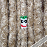 Joker Peyote Stitch Dread Bead - Knottysleeves Dread Beads and Dreadlock Accessories
