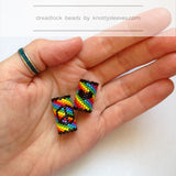 Rainbow Peace Dread Bead - Knottysleeves Dread Beads and Dreadlock Accessories