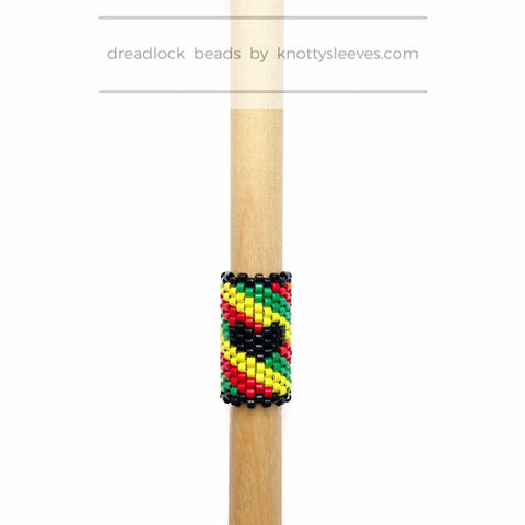 One Love Rasta Loc Cuff - Knottysleeves Dread Beads and Dreadlock Accessories