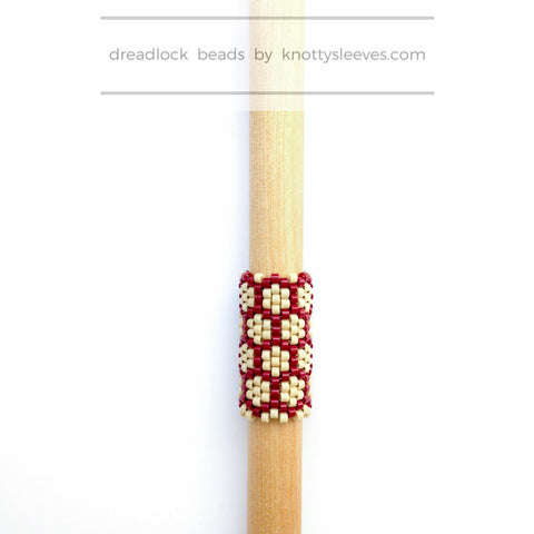 Honeycomb Dread Bead - Knottysleeves Dread Beads and Dreadlock Accessories