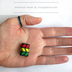 Rasta Waves Loc Cuff - Knottysleeves Dread Beads and Dreadlock Accessories