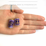 LIMITED EDITION Peace Sign Dread Bead - Knottysleeves Dread Beads and Dreadlock Accessories