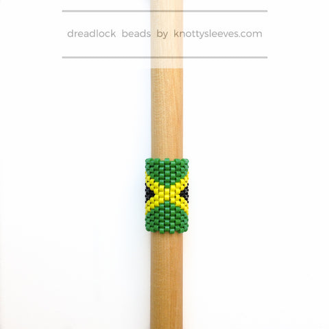 Jamaica Loc Cuff - Knottysleeves Dread Beads and Dreadlock Accessories