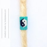 Yin and Yang Dread Bead