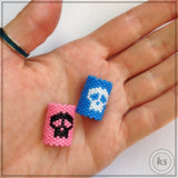 Skull Dread Bead - Knottysleeves Dread Beads and Dreadlock Accessories