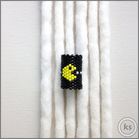 Pac-Man Dread Bead - Knottysleeves Dread Beads and Dreadlock Accessories