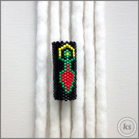Rasta Goddess Loc Bead - Knottysleeves Dread Beads and Dreadlock Accessories