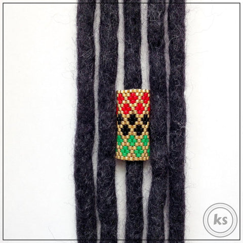 Royal Rasta Loc Cuff - Knottysleeves Dread Beads and Dreadlock Accessories