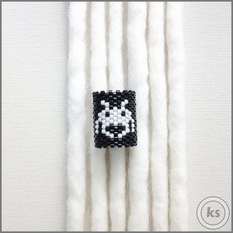 Space Invaders Dread Bead - Knottysleeves Dread Beads and Dreadlock Accessories