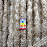 Yogi 7 Chakras Dread Bead - Knottysleeves Dread Beads and Dreadlock Accessories
