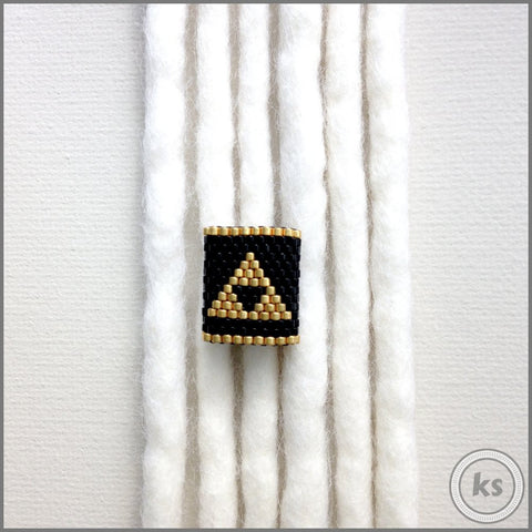 Zelda Triforce Dread Bead - Knottysleeves Dread Beads and Dreadlock Accessories