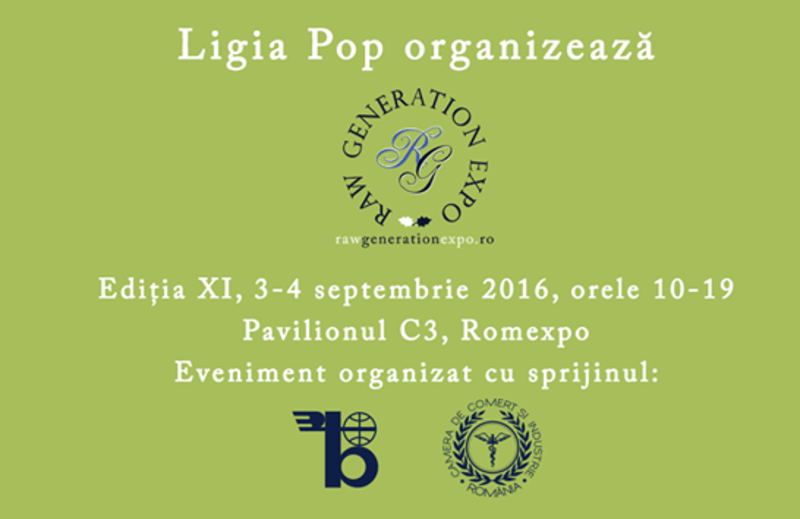 Participam la Raw Generation Expo Bucuresti pe 3-4 septembrie 2016