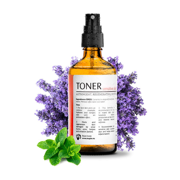 Mayie - food for skin - toner pentru ten sensibil 100% ape florale pure, 100% natural