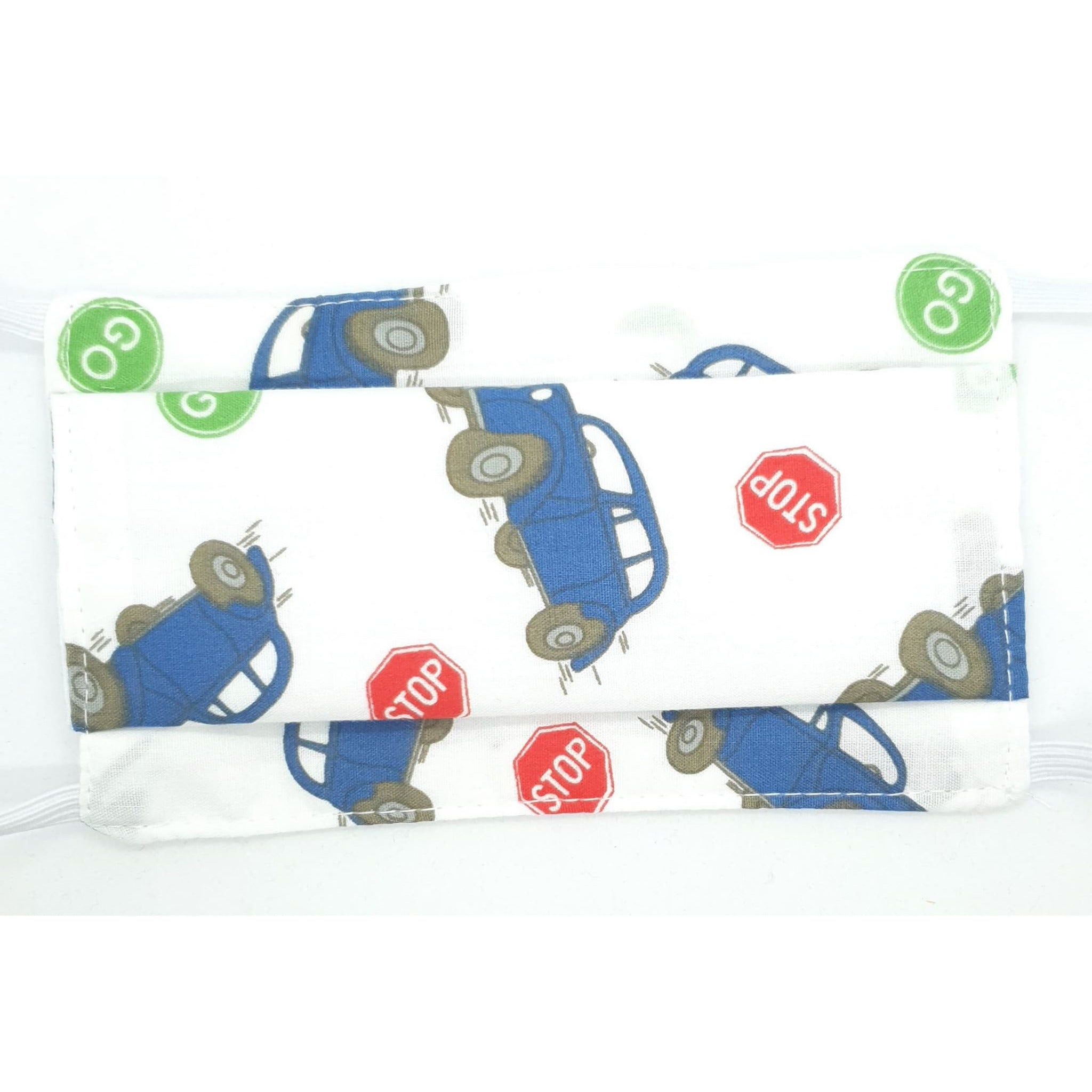 Fabric Face Mask Pleated Kids-  Traffic