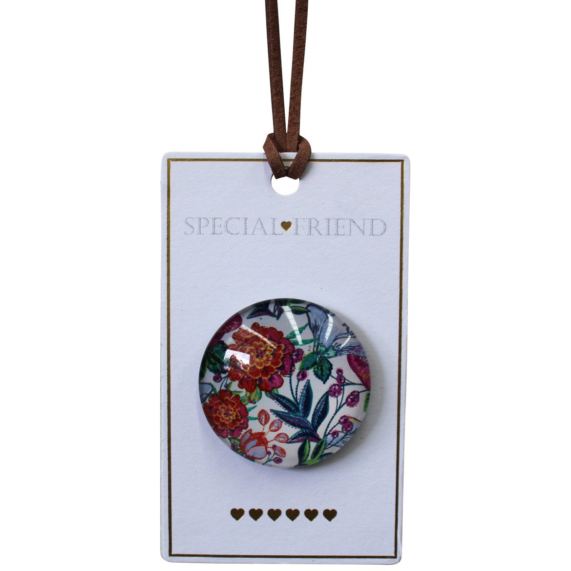 Magnet Glass -Special Friend Floral